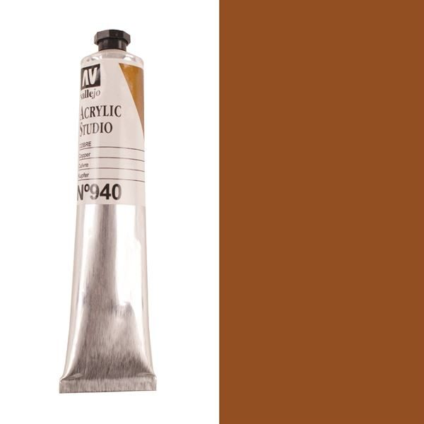 Vallejo Acrylic 58ml Tube - Copper PTAV58C