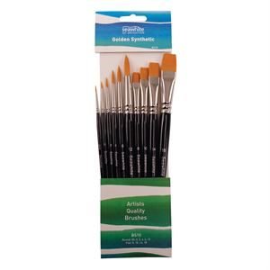 Golden Synthetic Brush Set (BS10)
