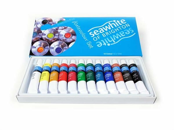 PTW12 pack of 12 watercolour tubes
