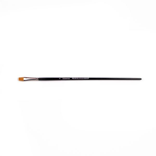 BSYS8 Golden Synthetic Flat Brush Size 8
