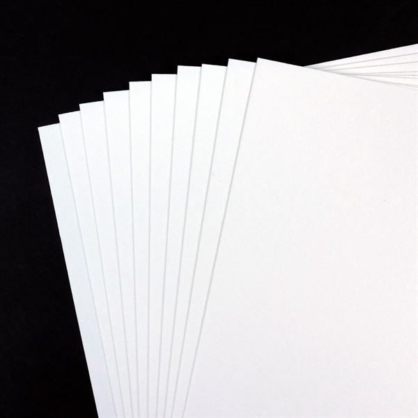 A2 600gsm White Card, 25 Sheet Pack CDW12SA2