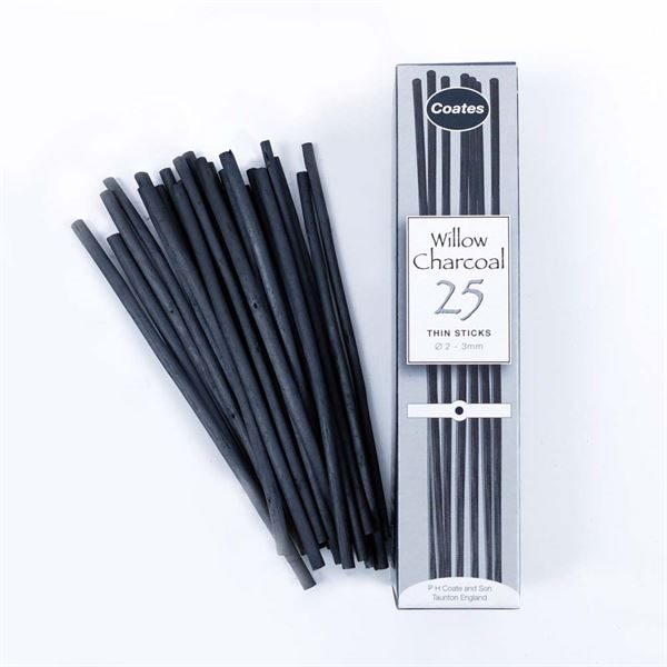 DACHM 25x Thin Sticks Charcoal