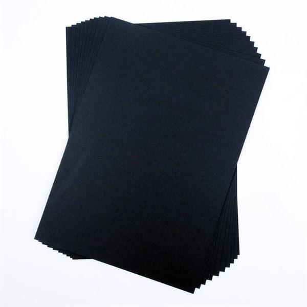 A4 300gsm Black Card, 50 Sheet Pack CDB6SA4