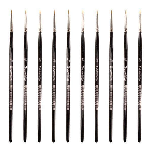 Golden Synthetic Brush - Round Size 000 - Value Pack of 10 brushes BSYS000P